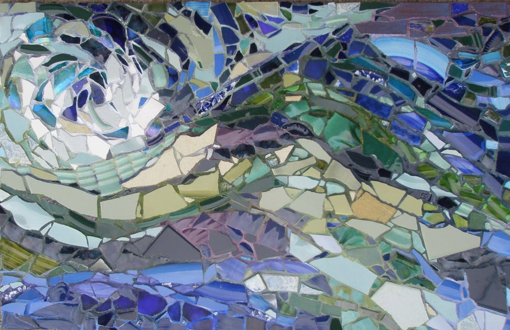 "Mosaic by Pam Collins titled ""Wave in Detail"""