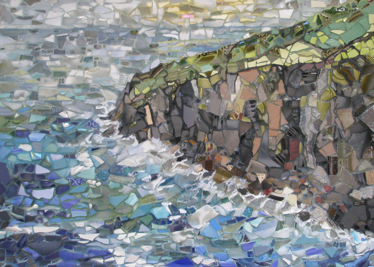 """Mosaic by Pam Collins titled """"Ryan's Cove"""""""