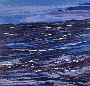 Fabric art by artist Pam Collins titled Beautifully Chilly
